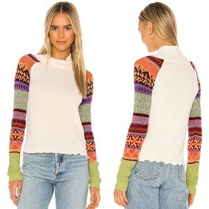 """Free People """"Prism Swit"""" Cowl Neck Sweater Top"""